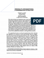 1997_applicant Personality-Organizational Culture and Organizational Attraction