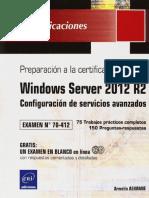 70-412 Windows Server 2012 R2 - Configuración de Servicios Avanzados