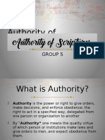 authority of scriptures