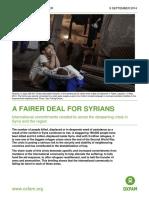 A Fairer Deal for Syrians