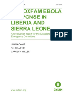 The Oxfam Ebola Response in Liberia and Sierra Leone