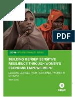 Building Gender Sensitive Resilience Through Women's Economic Empowerment