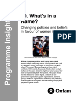 What's in a Name? Changing policies and beliefs in favour of women in Peru