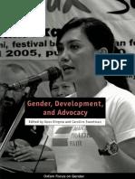 Gender, Development, and Advocacy