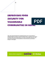 Improving Food Security for Vulnerable Communities in Nepal