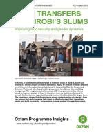 Cash Transfers in Nairobi's Slums