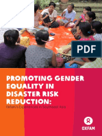 Promoting Gender Equality in Disaster Risk Reduction