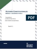 Módulo 9 - Acciones Constitucionales - Tomo I - Accioìn de Tutela