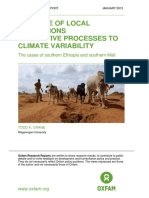 The Role of Local Institutions in Adaptive Processes to Climate Variability