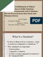 Ethics Standardization