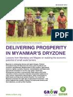 Delivering Prosperity in Myanmar's Dryzone