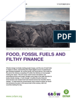 Food, Fossil Fuels and Filthy Finance