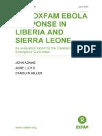 The Oxfam Ebola Response in Liberia and Sierra Leone