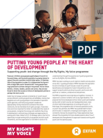 Putting Young People at the Heart of Development
