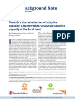 Towards a characterisation of adaptive capacity