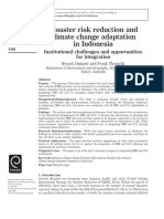 Disaster Risk Reduction and Climate Change Adaptation in Indonesia