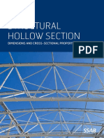 Steel Sections Hollow Sections Dimensions and Cross Sectional Properties