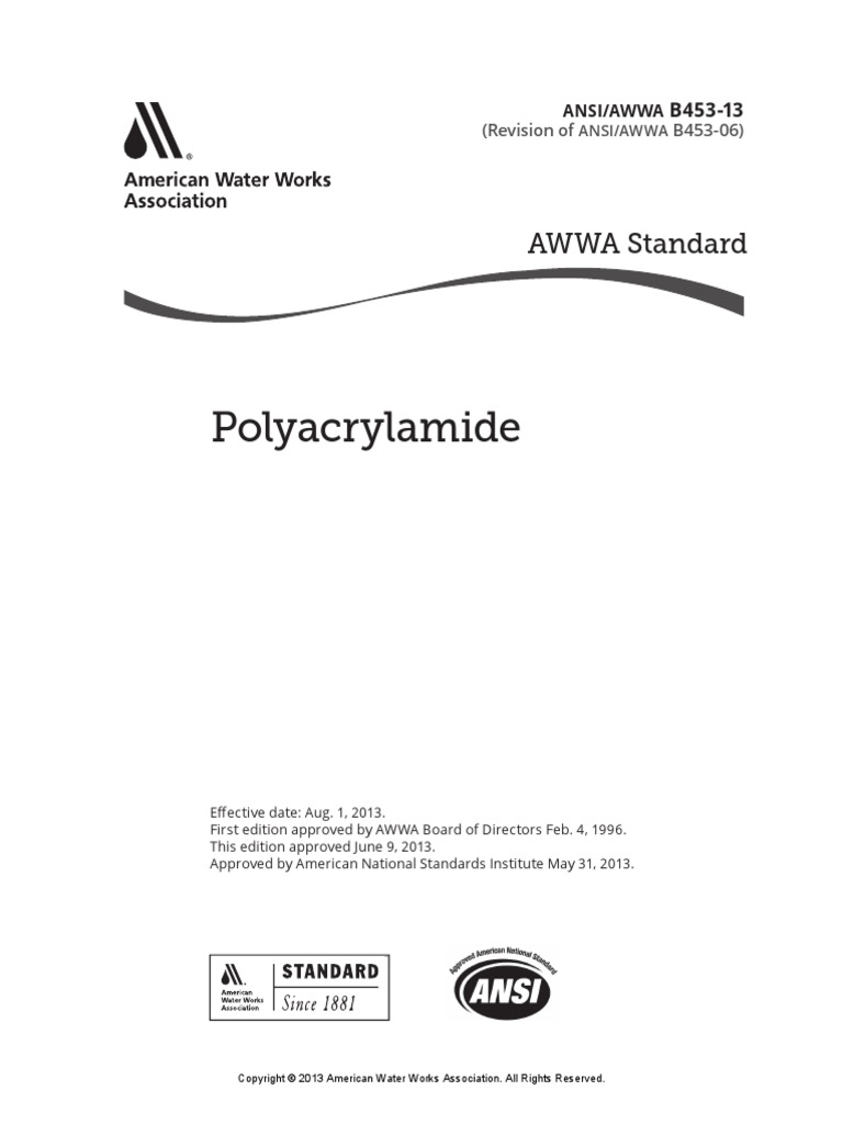 Awwa b453 13 polyacrylamide polymerization solution ccuart Choice Image