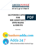 Final Gk Power Capsule for Rbi Assistant Mains 2017 by Gopal Sir and Team (1)