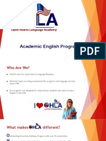 OHLA Academic English Programs