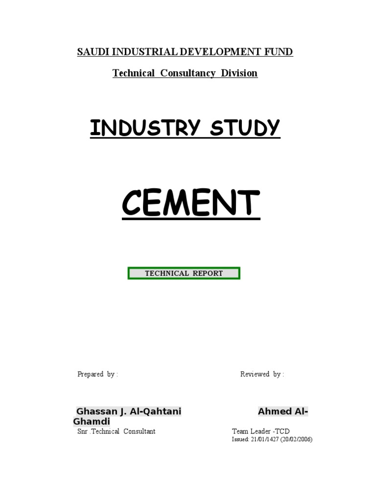 Cement Industry Study | Industrial Processes | Concrete