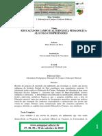 E2T22- Educação Do Campo e Alternância Pedagógica- Algumas Compreensões