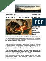 Pastor Bill Kren's Newsletter  - March 5, 2017
