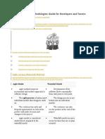Agile Model and Methodologies