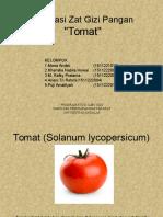 Evaluasi Gizi Pangan Tomat