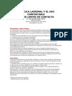 Película Lagrimal y El Uso Confortable