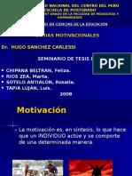 Exp. Teorias Motivacionales Tesis i i Doctorado m