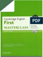 Teacher ´sbook      Cambridge First Masterclass (1)