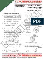 Numerical Bank of Electrostatics for Iit Pmt