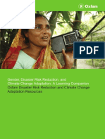 Gender, Disaster Risk Reduction, and Climate Change Adaptation
