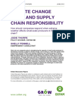 Climate Change Risks and Supply Chain Responsibility