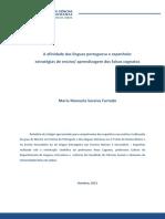 A Afinidade Das Línguas Portuguesa e Espanhola