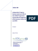Independent Progress Review of the CSH PPA between Oxfam and DFID
