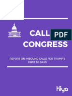 Calls to Congress Report