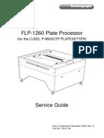 Technigraph FLP-1260 Plate Processor Service Manual