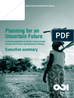 Planning for an Uncertain Future