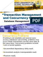 7. Transaction Management and Concurrency Control
