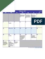 february 2017 calendar