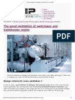 The Good Ventilation of Switchgear and Transformer Rooms _ EEP