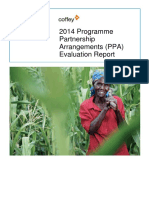 2014 Programme Partnership Arrangements (PPA) Evaluation Report
