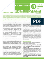 Women's Right to Agricultural Land