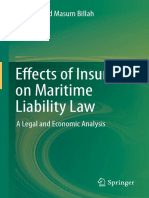 Effects of Insurance on Maritime Liability Law - 2014