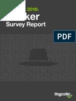 Black Hat Hacker Survey Report 2016