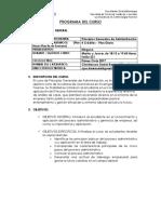 Programa de Pricipios de Administración 2017