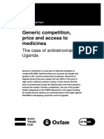 Generic Competition, Price and Access to Medicines