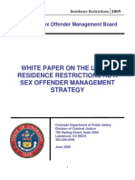 Colorado Sex Offender Management Board 2009 Study